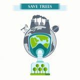 Save drzewo planetę Obrazy Stock