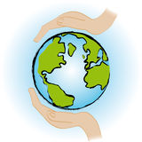Save the earth Stock Photography