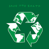 Save the Earth. Illustration of a recycle sign Stock Image