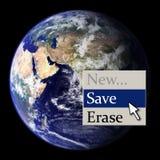 Save the Earth. (context menu royalty free illustration