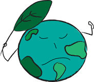 Save the Earth royalty free illustration