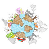 Save Earth concept for Earth Day Stock Image