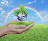 Save the earth concept, Elements of this image furnished by NASA stock photos