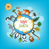 Save The Earth concept illustration Stock Image