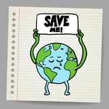 Save the earth design template. Vector, EPS10 Royalty Free Stock Photography