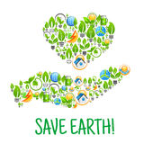 Save Earth. Eco environment creative illustration Stock Photography