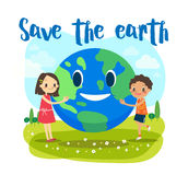 Save the earth ecology concept illustration Royalty Free Stock Photo