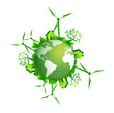 Save the earth-ecology concept illustration. Design over a white background Stock Photography