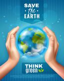Save Earth Ecology Poster Royalty Free Stock Images