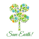 Save Earth environment protection concept Stock Image