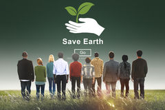 Save Earth Environmental Conservation Global Concept Stock Photography
