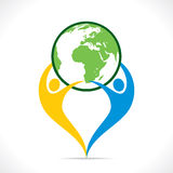 Save earth or go green icon design Stock Photo