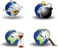 Save Earth icons Royalty Free Stock Photography