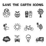 Save the earth icons Stock Photo