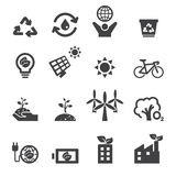 Save the earth icons Stock Photos