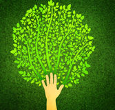 Save the Earth logo Stock Image