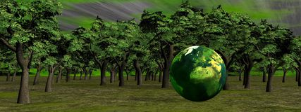 Save the earth and nature Stock Image