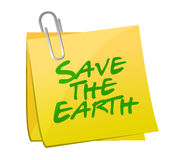Save the earth post illustration design Royalty Free Stock Image
