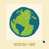 Save The Earth Symbol Stock Image