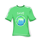 Save earth t-shirt Royalty Free Stock Photo