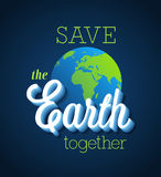 Save the Earth together. Royalty Free Stock Photos