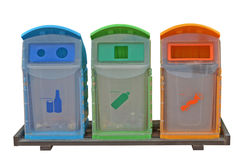 Save the earth by using separate bins Stock Images