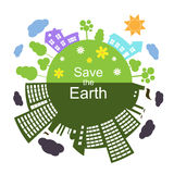 Save the Earth, Vector Illustration Royalty Free Stock Photos
