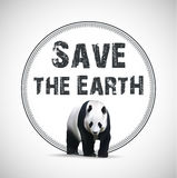 Save the Earth. Vector illustration Stock Photo