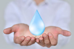 Save Earth/ Water Concept Royalty Free Stock Photography