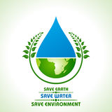 Save earth,water and environment concept Royalty Free Stock Images