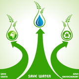 Save earth,water and environment concept Stock Photos