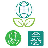 Save the earth web icon Royalty Free Stock Images