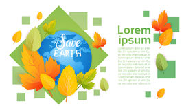 Save Earth World Environment Day Ecology Protection Holiday Greeting Card Royalty Free Stock Image
