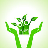 Save eco family concept Royalty Free Stock Photo