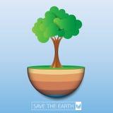 Save eco ziemię Zdjęcie Stock
