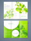 Save ecology brochure, template or flyer design. Royalty Free Stock Photos