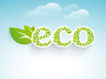 Save ecology concept with green leaves. Stock Photography