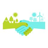 Save ecology concept vector illustration