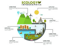 Save ecology infographic layout. Stock Photos