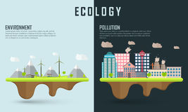 Save ecology infographic layout. Royalty Free Stock Photo