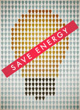 Save energy. The poster encourages abandon incandescent lamps Stock Photos