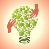 Save the energy. Bulb Royalty Free Stock Photos