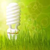 Save energy concept  background abstract green Royalty Free Stock Photography