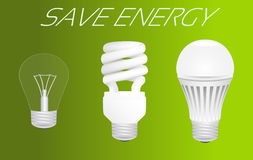 Save energy concept Royalty Free Stock Images
