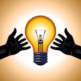Save energy idea Stock Image