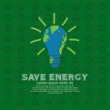 Save energy. royalty free illustration