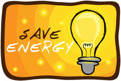 SAVE ENERGY. Illustration of save energy poster with beautiful colour Royalty Free Stock Images