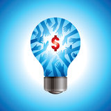 Save energy and money concept. Save energy concept with dollar Stock Photo