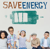 Save Energy Power Light Eco Concept Stock Image