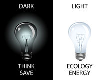 Save energy and preserve environment Stock Images